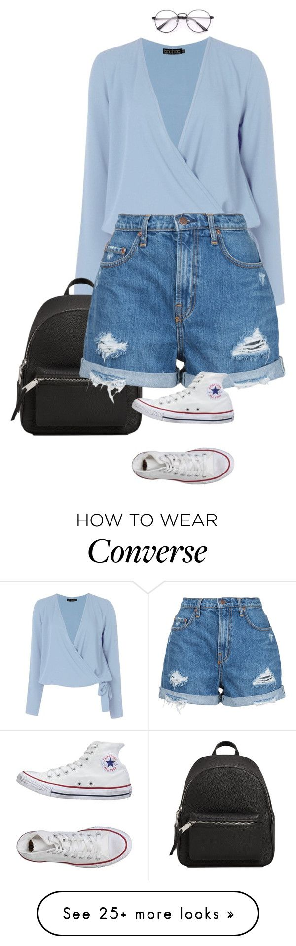 """Bez tytułu #376"" by wiktoria-duszynska on Polyvore featuring Boohoo, MANGO, Nobody Denim and Converse"