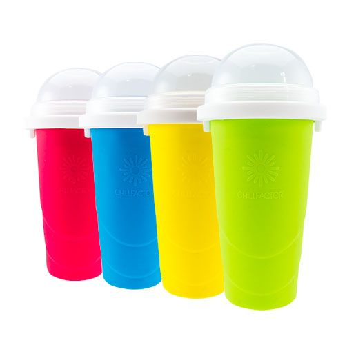 Slushy or smoothie maker. Pour any safe beverage or diet beverage or safe juice and it gets turned into a slushy with a couple hands pumps