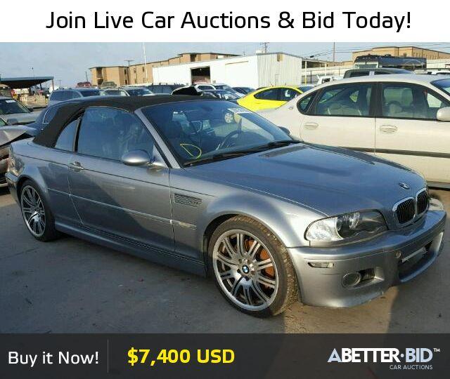 Salvage  2006 BMW M3 for Sale - WBSBR93466PK11536 - https://abetter.bid/en/29155726-2006-bmw-m3