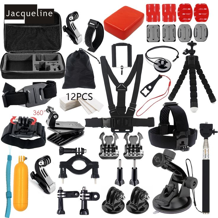 For Go pro Hero Accessories Kit Set Mount Holder for Gopro Hero 5 4 Hero3+ 3/SJCAM SJ5000 SJ6000/SOOCOO/EKEN H9R H9 H8 Tripod
