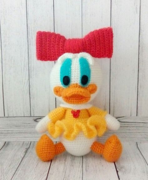 daisy duck ente h keln anleitung kostenlos amigurumi. Black Bedroom Furniture Sets. Home Design Ideas