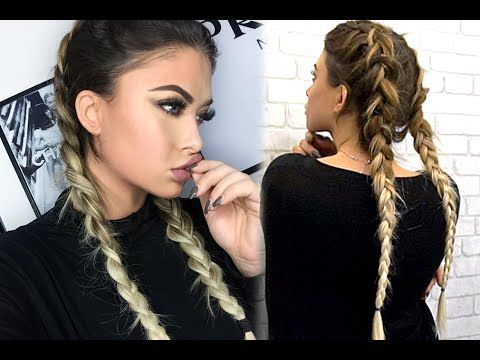 How To Double Dutch Braid With Bellami Extensions Youtube Beauty