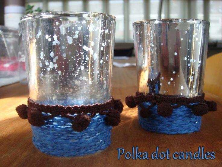 Polka dot candles