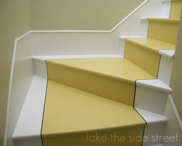 Love these stairs painted