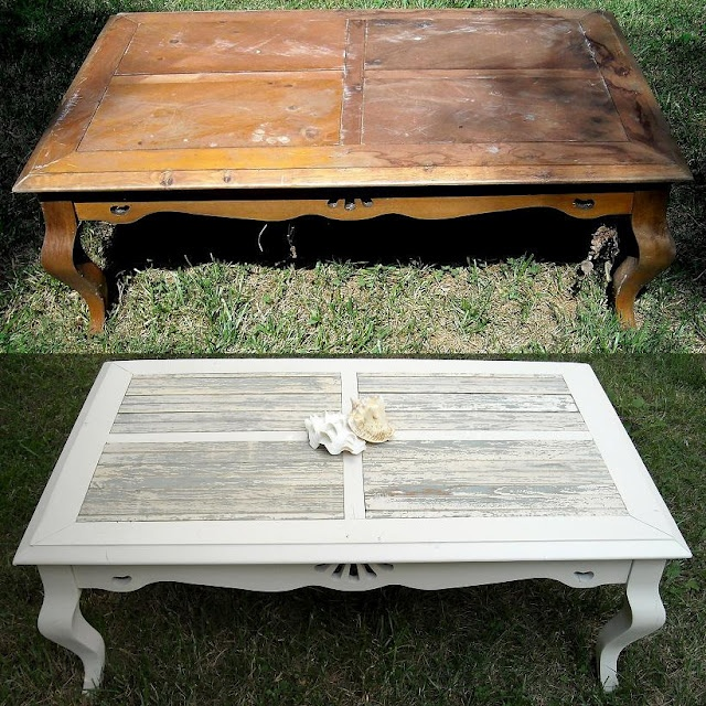 27 best shabby chic coffee table images on pinterest for Redo table top ideas