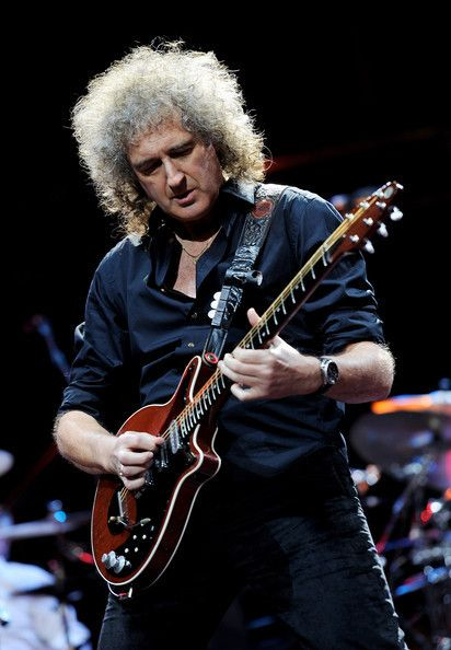 Brian May, British musician, born 1947.