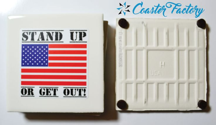 "Hey NFL!  Stand up or Get out! Table Coasters! 4 per set. 4"" x 4"" Cold and Water resistant.  Waterproof."