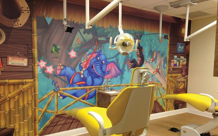 Custom Digital Wall Murals for Pediatric Dental Treatment Rooms by Imagination Dental Solutions.