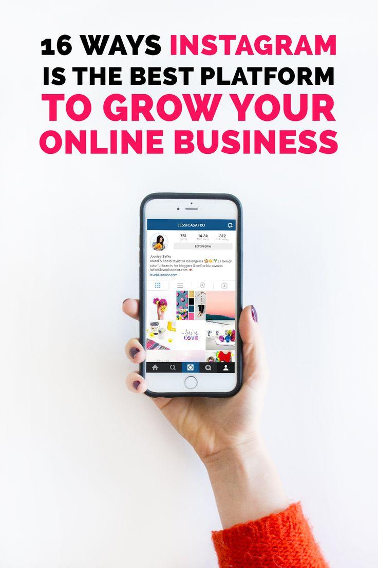 16 ways instagram is the best platform to grow your online business | LOVE PLUS COLOR