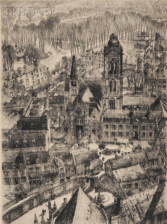 Semur-en-Auxois, 1925, Samuel V. Chamberlain. American (1895 - 1975)