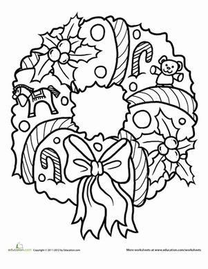 Wreath Coloring Page Images