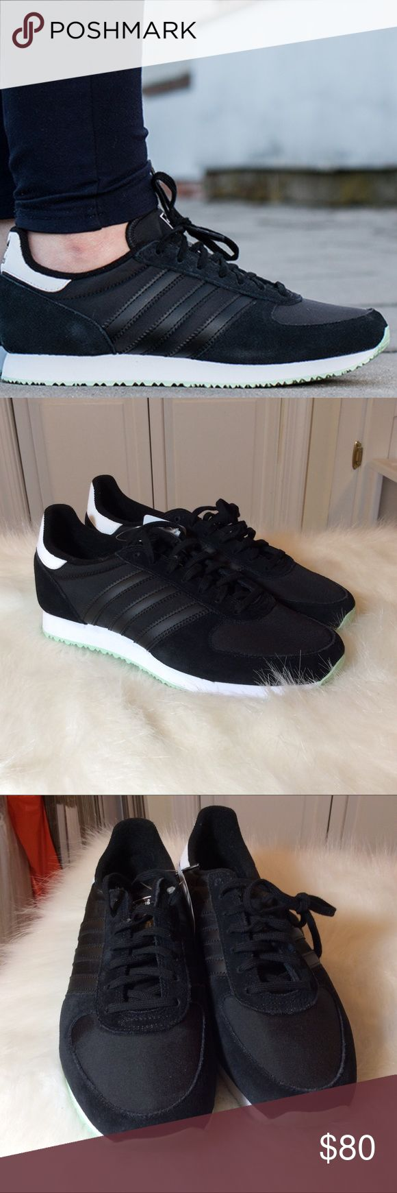 Adidas ZX Racer Women's size 8.  Brand new in box.  Black upper, teal sole adidas Shoes Sneakers