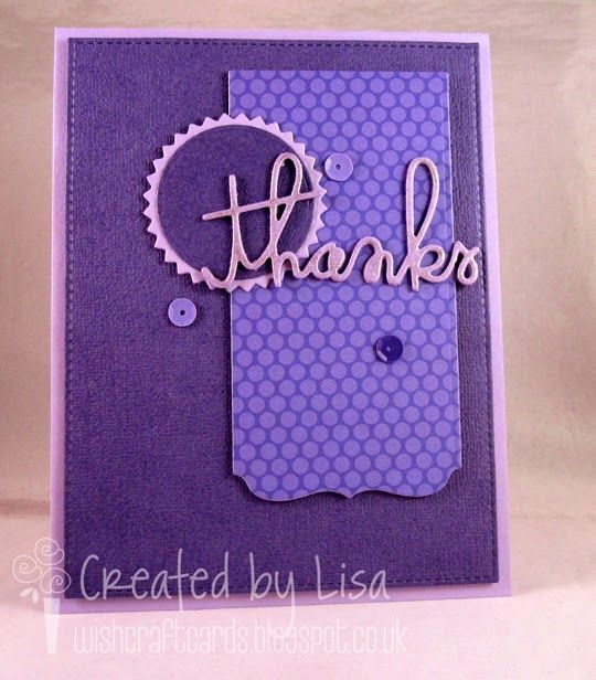 Thank you card - MFT, Doodlebug & Paper Smooches