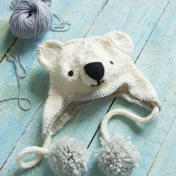 Polar Bear Knit Hat: free pattern