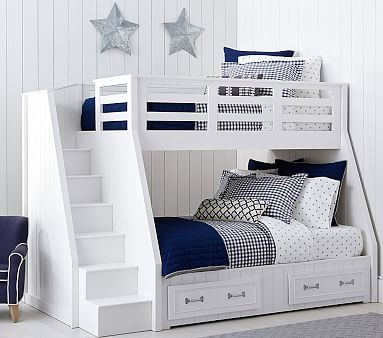 Belden T F Stair Loft Bed Simply White Furniture