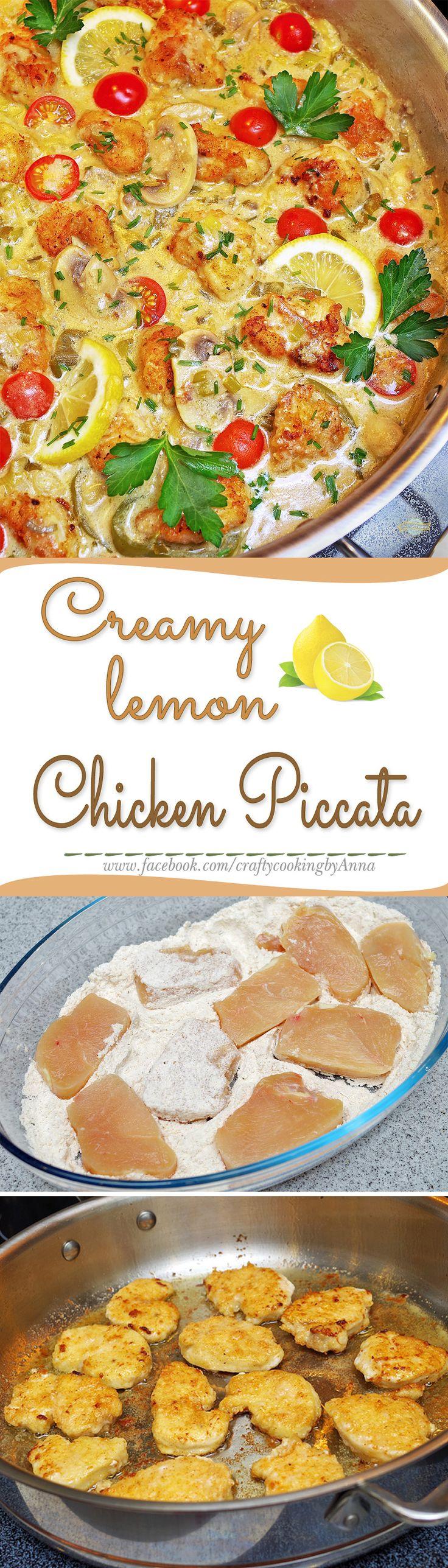CREAMY Lemon Chicken Piccata!#Easy #Delicious#Everyday #Beautiful #Homecooking…