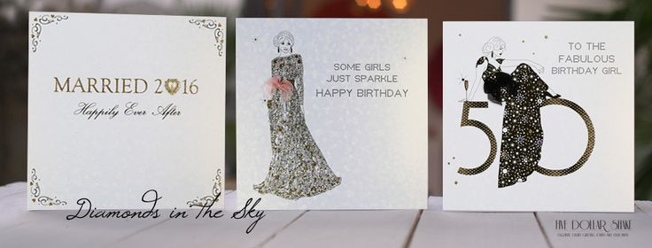 'Diamonds In The Sky' - Shimmering sophisticated designs onto our exclusive sequin effect board.  Stunning glitters and genuine crystals add the most sparkling of embellishments to these glamorous illustrations.