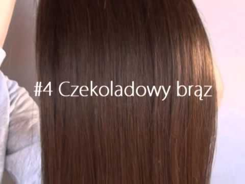 http://hairself.pl/pl/p/Czekoladowy-braz-4/102 Chocolate brown, human hair clip-in extensions, color presentation