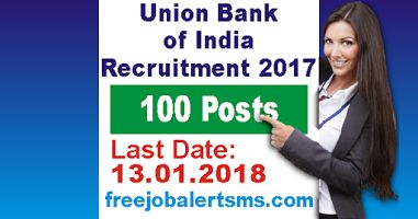 Union Bank of India Recruitment 2017 for 100 Posts Forex Officer, Integrated Treasury Officer | Apply Online: Union Bank of India has release recruitment 2017 notification for the post of 100 posts Forex Officer, Integrated Treasury Officer in Specialized Segment. Online application 13.01.2018.
