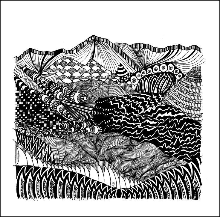 Cho Oyu Tuschezeichnung Copyright by mgbergbilder / Gabriele Maier