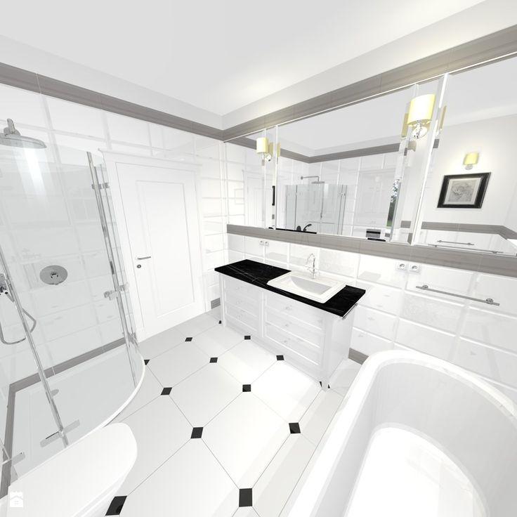 Łazienka styl Klasyczny - zdjęcie od Pracownia projektowania wnętrz Beata Lukas