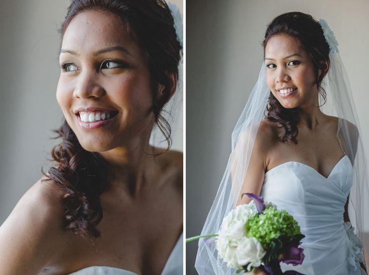 Toronto documentary wedding photographer shoots a bridal portrait before their Liuna Gardens wedding ceremony