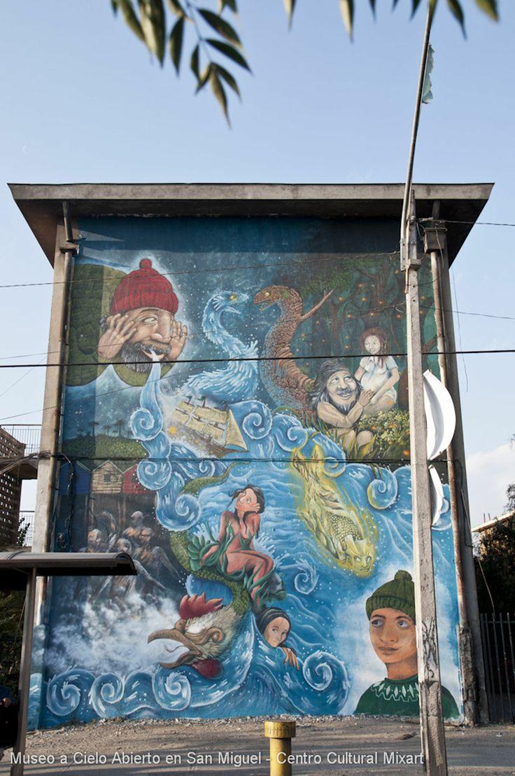 mythology and legends wall Chiloe, Chile