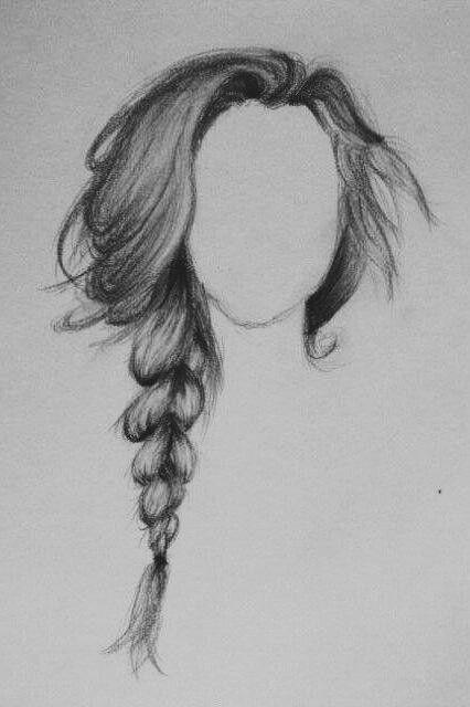 Elegant braid drawing | How to draw braids, Drawing hair ...