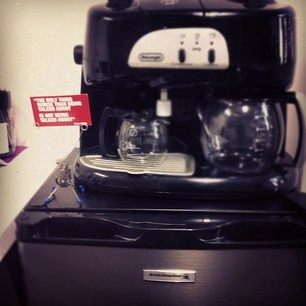Our very own coffee machine close at hand!