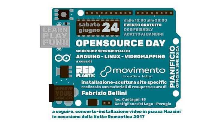RT @movimentolabel: sabato pomeriggio dalle 15 alle 20 OPENSOURCE DAY @pianificio officina sinergica workshop di @Linux @arduino vid https://t.co/mMYARzCNWO