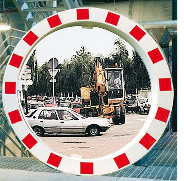 Red & White Framed Traffic Mirrors