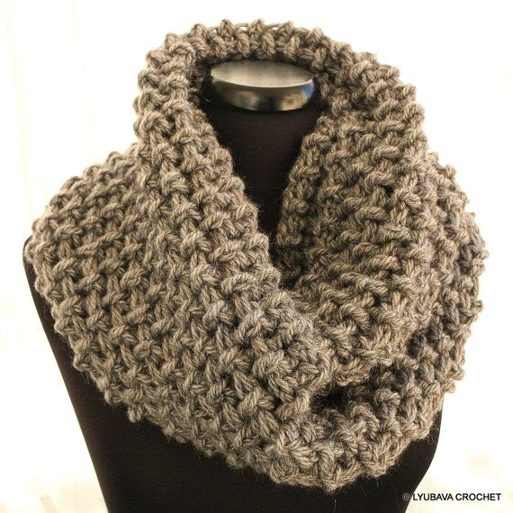 Crochet Scarf PATTERN-Circle Scarf-Chunky Scarf-Infinity ...