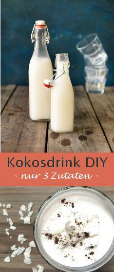 Das Rezept für den selbstgemachten Kokosdrink ist super einfach und ich finde, es lohnt sich kaum, fertige Kokosdrinks zu kaufen.
