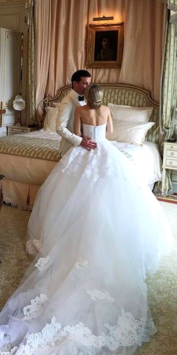 24 Real Brides In Ines Di Santo Wedding Dresses ❤ See more: http://www.weddingforward.com/ines-di-santo-wedding-dresses/ #wedding #dresses