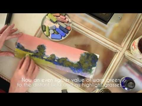 Pastel Painting Step-by-Step - Landscape How-To with Bethany Fields - YouTube