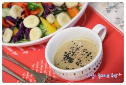 [샐러드만들기] 참깨소스 / 참깨드레싱 / 맛있게 샐러드만들기 : 네이버 블로그