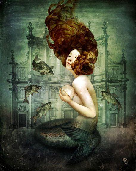 'The Mermaid´s Pearl' von Christian Schloe bei artflakes.com als Poster oder Kunstdruck $20.79
