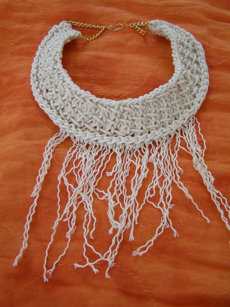 Statement knitting necklace, summer 2014