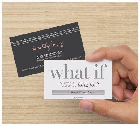 Rodan and Fields LashBoost Business Card by LittleLovy on Etsy