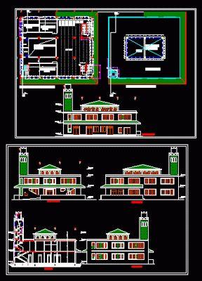 Plan d'une mosquée dwg   Génie civil et Travaux Publics Engineering