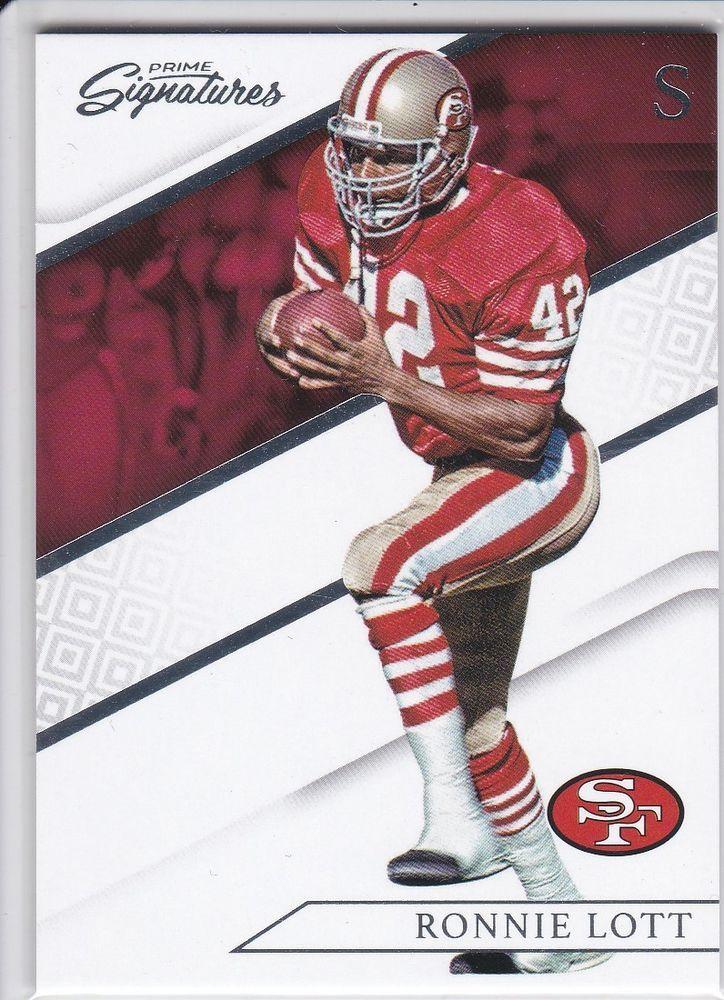 6ef8a1071 2016 Panini Prime Signatures Ronnie Lott San Francisco 49ers Sports Card  No. 158  SanFrancisco49ers