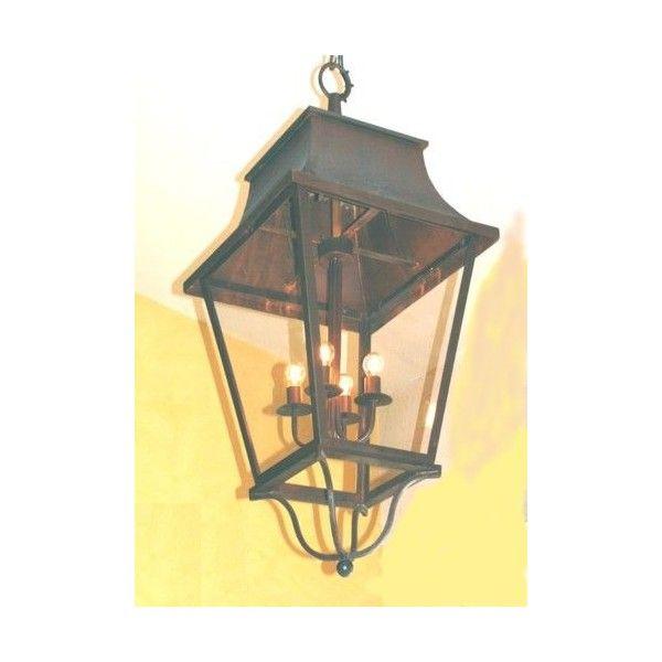 Haute lanterne suspendre electrique e 27 fer forg for Lanterne interieur