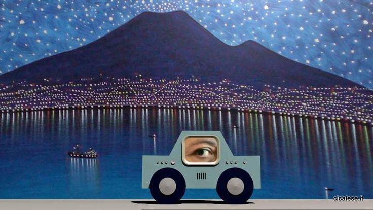 TELECAR Vesuvio - Stampa fotografica da videoanimazione 3D G. Cicalese 33x60 cm
