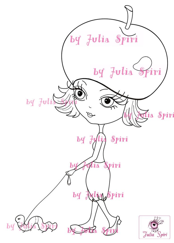 Digital Stamps Digi stamp Coloring pages Girl stamps by JuliaSpiri