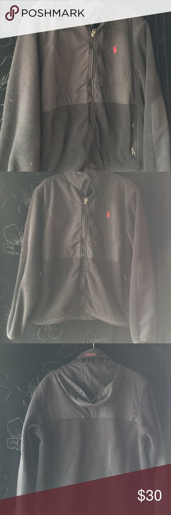 ‼️Polo by Ralph Lauren Fleece Jacket for sale It's fleece season. This beloved jacket is soft and in good condition except the zipper becomes slightly wavy.  Have worn it one winter straight on its own or as a middle layer to bring that cozy comfort to the coldest winter days. I do take offers. Polo by Ralph Lauren Jackets & Coats