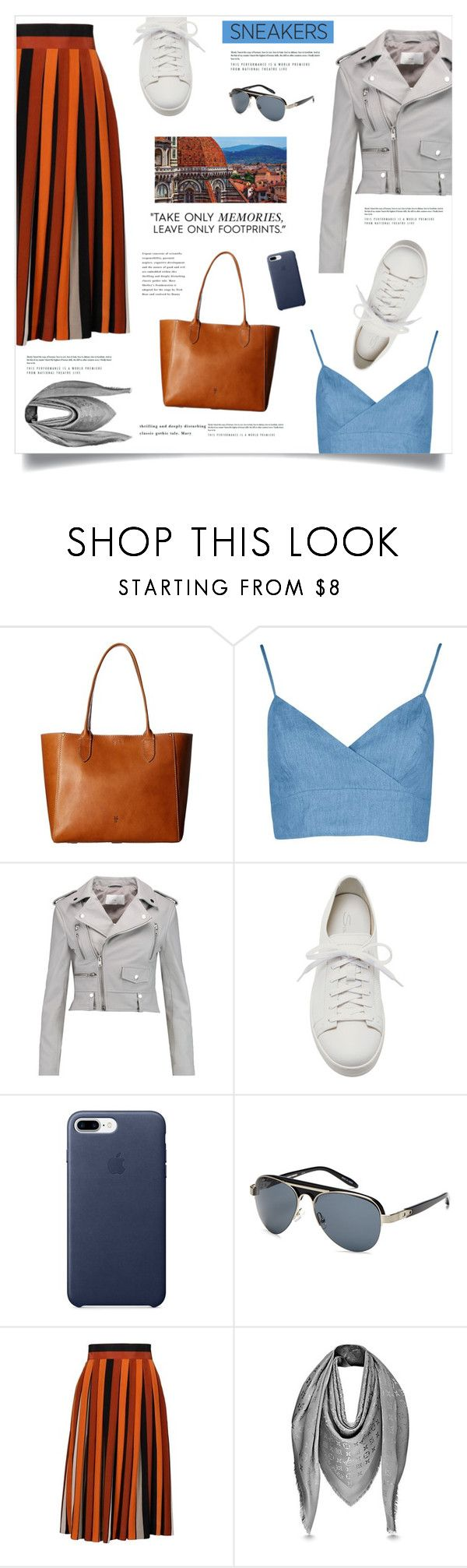 """""""Rome"""" by marina-volaric ❤ liked on Polyvore featuring Frye, W118 by Walter Baker, Santoni, Alexander Wang, Givenchy and whitesneakers"""