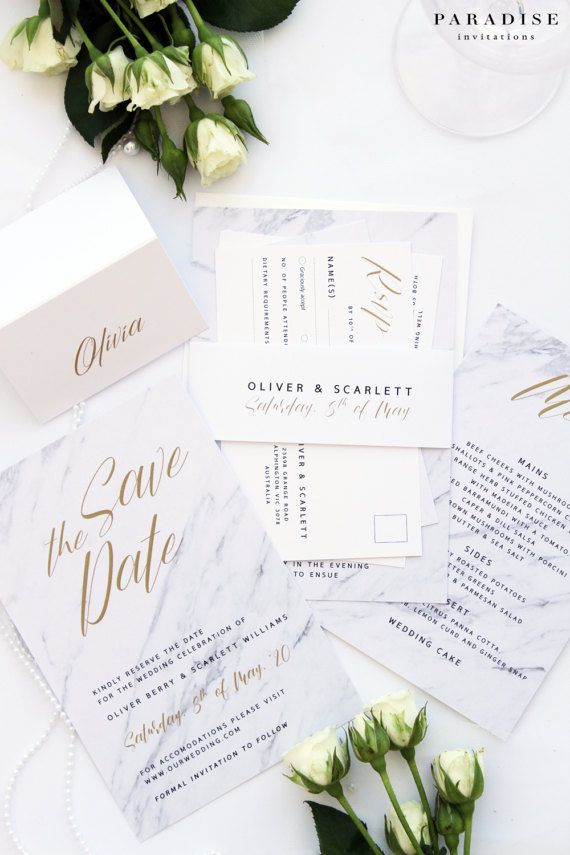 156 best Marble Wedding Invitations images on Pinterest | Wedding ...