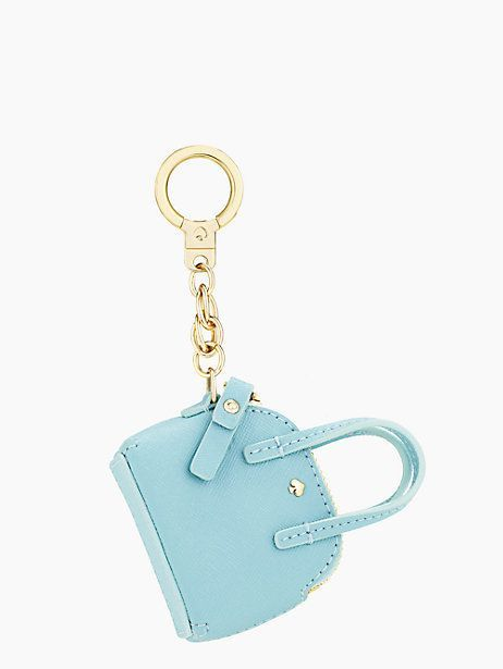 maise keychain - kate spade new york - how cute is this?! And if you could fit a mini lipstick or sample perfume? Awesome!