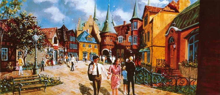 Herb Ryman Concept Art Epcot Original Painting