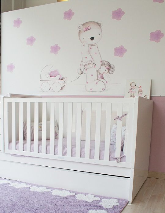 Papel mural para habitaciones infantiles de il mondo di - Papeles pintados para habitaciones ...